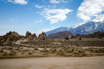 Alabama Hills Recreation Area in Lone Pine California. Many Western movies were filmed in this area