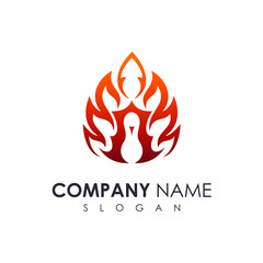 fire peacock logo template
