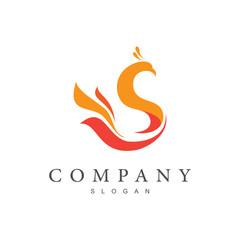 peacock logo design template
