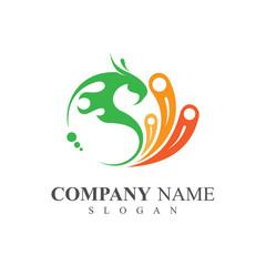 colorful peacock logo template