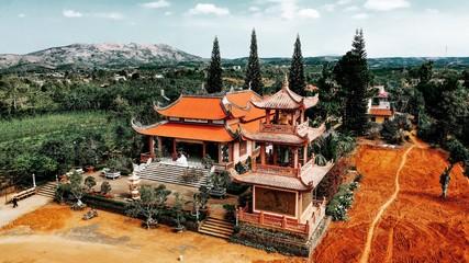 Phap Hoa Pagoda in Lam Dong, Viet Nam