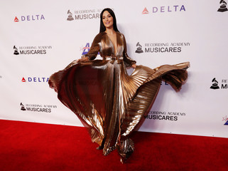Singer Kacey Musgraves attends a red carpet gala event honoring Dolly Parton as the MusiCares Person of the Year, ahead of the Grammy Awards, in Los Angeles, California