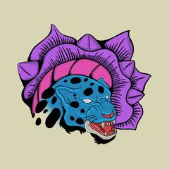 blue tiger tattoo japan style