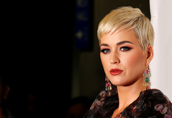 Singer Katy Perry attends a red carpet gala event honoring Dolly Parton as the MusiCares person of the year, ahead of the Grammy Awards, in Los Angeles
