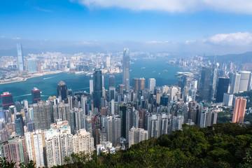 香港 ビクトリアピーク遊歩道(盧吉道観景台)からの景色