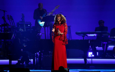Yolanda Adams performs during a gala event honoring Dolly Parton as the MusiCares person of the year in Los Angeles