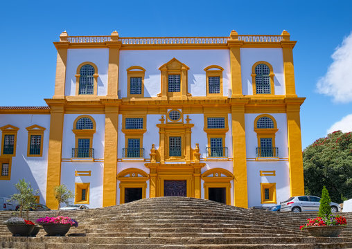 Church of Our Lady of Carmo, also known as of St. Ignatius of Loyola, or Church of the College or Jesuit Church, built in 16th century in Angra do Heroismo city on Terceira Island of Azores, Portugal.