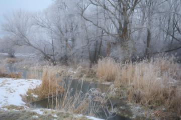 Fototapeta Zimowa dolina rzeki obraz