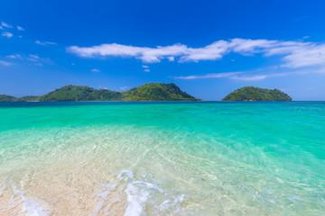 Koh Lipe with beautiful beach and blue sky at Koh Khai in Andaman Sea,Tarutao national park , Satun Province,Thailand