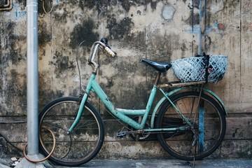 Abandoned bicycle in bangkok thailand