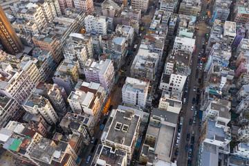 Wall Mural - Hong Kong city from above