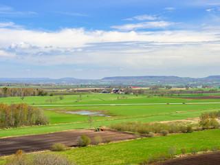 Beautiful rural landscape view