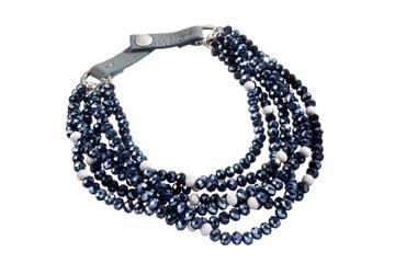 luxury necklace black and white isolated on white