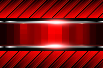Abstract  background red pattern, shiny metallic