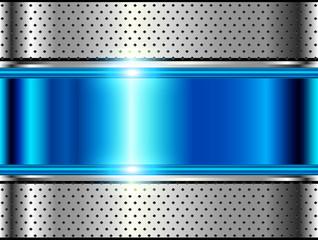 Metallic background silver blue