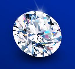 Background with diamond , shiny beautiful gemstone