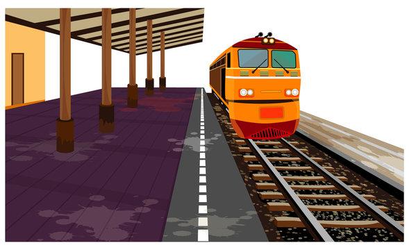 the old train vector design