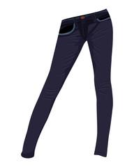 jeans fashion pant vector design