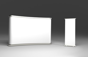 Exhibition Tension Fabric Display Banner Stand Backdrop for trade show advertising stand