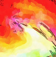 Abstract acrylic watercolor background. Colorful high resolution texture. Warm and bright colors pattern.