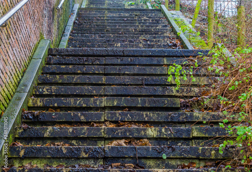 Stone Staircase In The Middle Of Nature, Outdoor ...