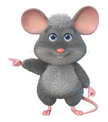 funny mouse/3d illustration home wrecke