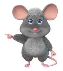 3d illustration funny mouse/3d illustration home wrecker look like a rat