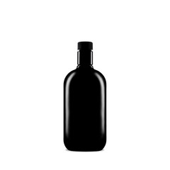 black bottle with ısolated background
