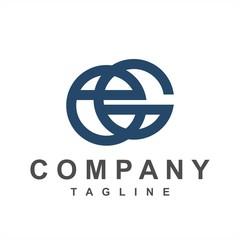 Obraz eG, Ge, ecG initials company logo - fototapety do salonu