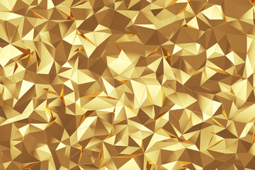 Abstract triangle gold background texture