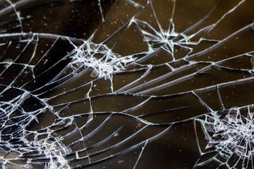 Shattered Glass Vandalised Screen