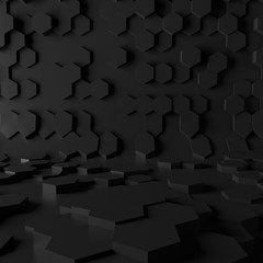 Abstract low poly hexagon background