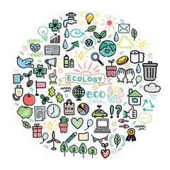 エコ エコロジー イメージ イラスト アイコン セット