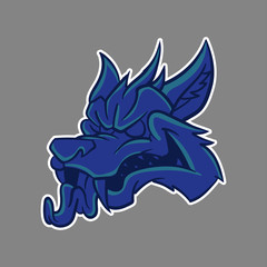 blue head wolf mascot logo