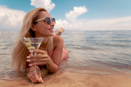 Happy woman enjoying on summer vacation