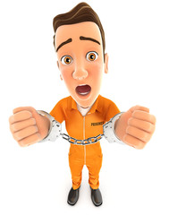 3d prisoner handcuffed