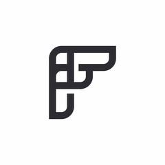 f letter vector logo icon mark