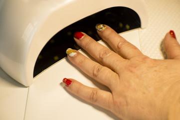 Drying nail uv led lamp