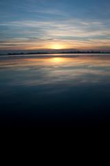 Beautiful colorful Sunset over a lake