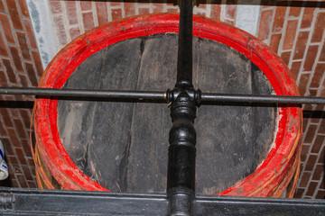 Old large wooden barrel