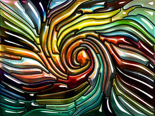 Inner Life of Iridescent Glass