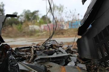 Abandoned Lot: Broken TV Glass 3