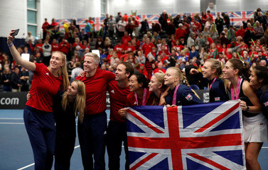 Fed Cup - Europe/Africa Group I - Promotional Play-Off Semi Final - Great Britain v Serbia
