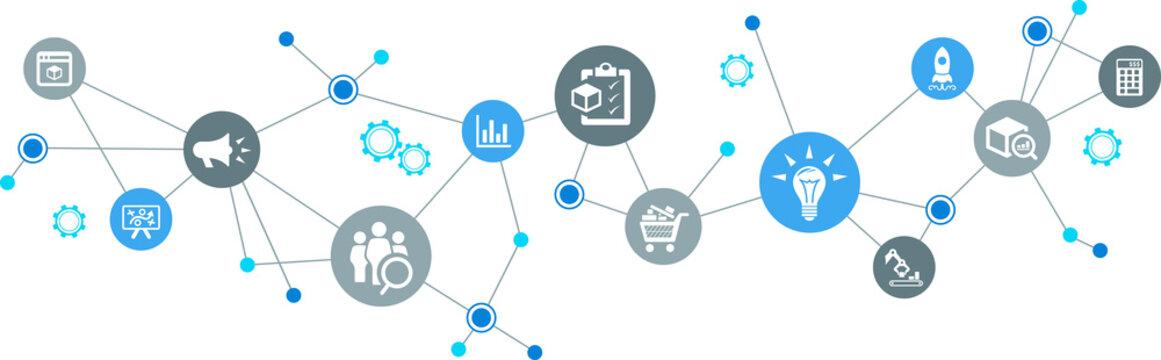 product management / product development / product marketing – vector illustration