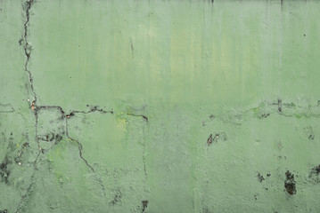cracked concrete vintage wall background,old wall green concrete wall