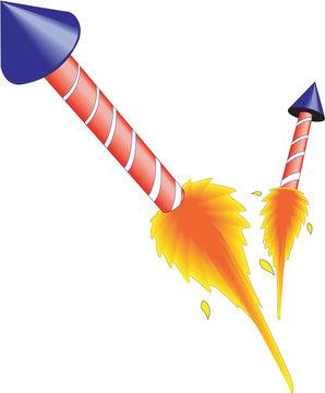 Rockets Vector Illustration