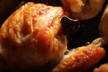 Fried chicken. Macro shot.