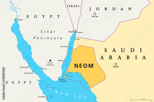 NEOM political map of the 500 billion dollar megacity ...