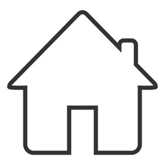 Home icon or symbol for web site ui or application ui to go to main or home page, flat simple design