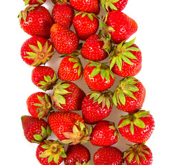 strawberries isolated over white